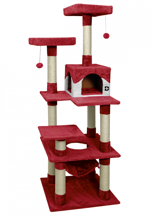 Kratzbaum Deluxe rot